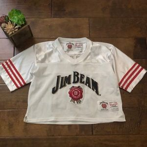 Jim Beam Cropped Jersey Size Small White Whiskey